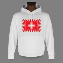 Kapuzen-Sweatshirt - Swiss Projection