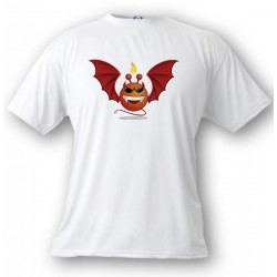 Youth Alien Smiley T-shirt - Devil Vampyr, White