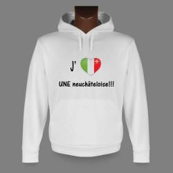 Kapuzen-Sweatshirt - J'aime UNE neuchâteloise