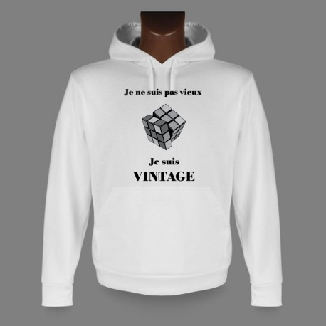 Hooded Funny Sweat - Vintage Rubik's cube