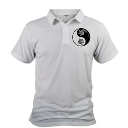 Men's Polo Shirt - Yin-Yang - Tribal Tiger Head, Front