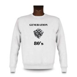 Sweat homme - Génération quatre-vingt, White