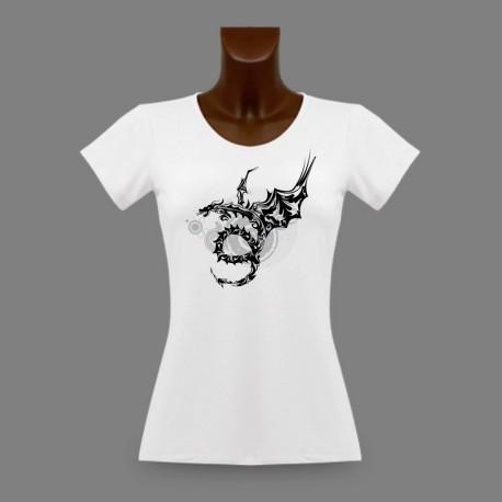 T-Shirt slim mode dame - Tribal Dragon Universe