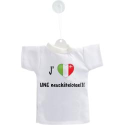 Mini T-Shirt - J'aime UNE neuchâteloise - pour voiture