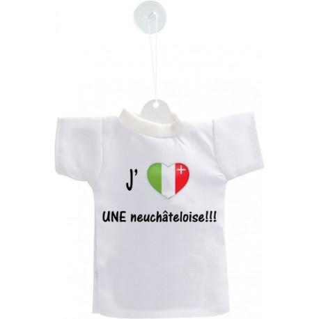 Car Mini T-Shirt - J'aime UNE neuchâteloise