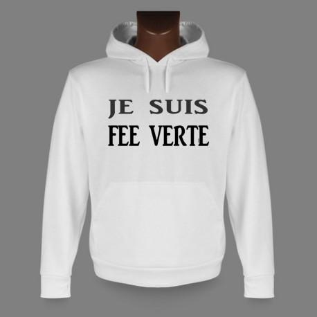 Kapuzen-Sweatshirt - Je suis FEE VERTE