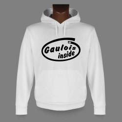 Sweat bianco a cappuccio - Gaulois inside
