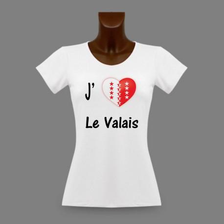 Women's fashion slinky T-Shirt - J'aime le Valais