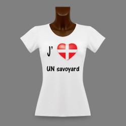 Frauen Moden Slim T-shirt - J'aime UN Savoyard