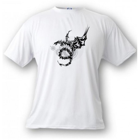 Youth T-shirt - Dragon Universe, White