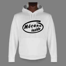 Hooded Funny Sweat - Mécano inside