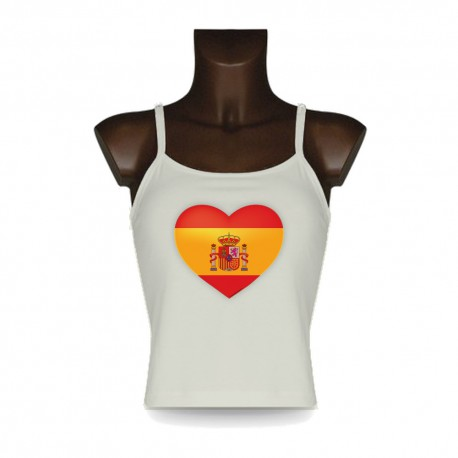 Women's Top - Spanish Heart, Natural