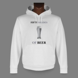 Sweat bianco a cappuccio - Fifty Shades of Beer