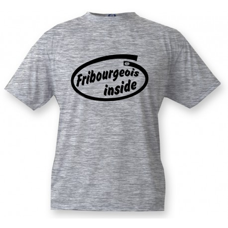 Kinder T-Shirt - Fribourgeois inside, Ash Heater