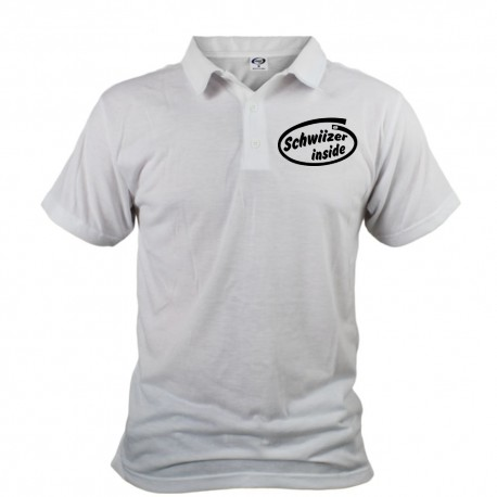 Men's funny Polo shirt - Schwiizer inside