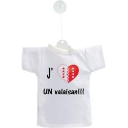 Car Mini T-Shirt - J'aime UN Valaisan
