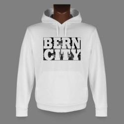 Hooded Funny Sweat - BERN CITY White