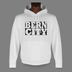 Sweat à capuche - BERN CITY White