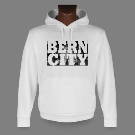 Sweat à capuche - BERN CITY White