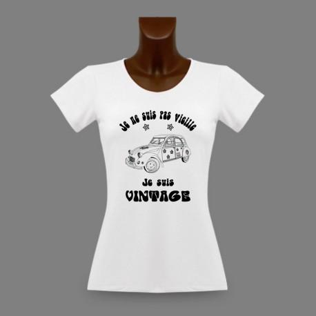 Frauen Mode T-shirt -  Vintage Hippie Deuche