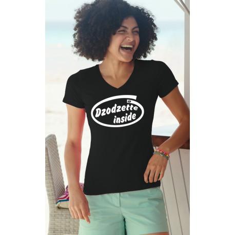 Donna Moda cotone T-Shirt - Dzodzette Inside, 36-Nero