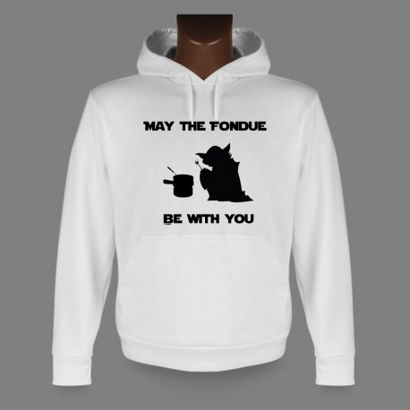 Men's Hoodie - May the Fondue be with You, Yoda