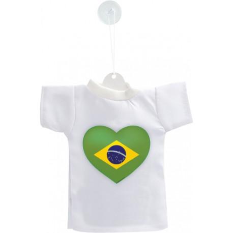 Mini T-Shirt - Coeur Brésilien