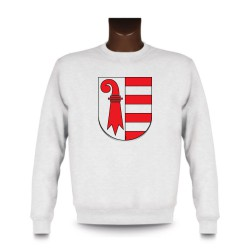 Uomo fashion Sweatshirt - Stemma di Jura, White