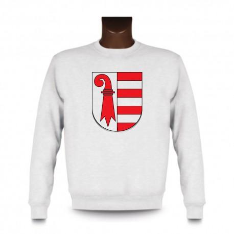 Uomo fashion Sweatshirt - Stemma di Jura, White
