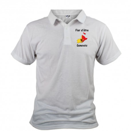 Men's fashion Polo shirt - Fier d'être Genevois