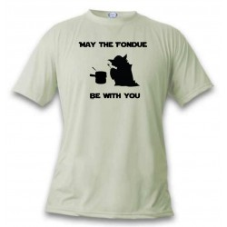 T-Shirt - May the Fondue be with You, November White