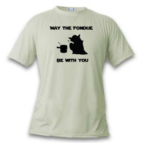Funny T-Shirt - May the Fondue be with You, November White