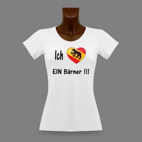T-Shirt slim mode femme - Ich liebe EIN Bärner