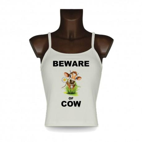 Top débardeur mode femme - Beware of Cow, Natural
