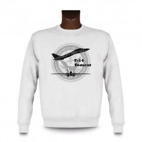 Sweat mode homme - Avion de combat - F-14 Tomcat, White