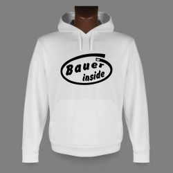 Sweat bianco a cappuccio - Bauer inside