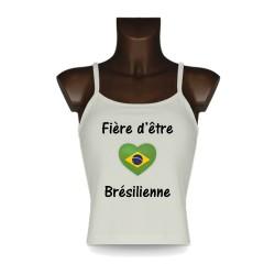 Women's fashion Top - Fière d'être Brésilienne, Natural