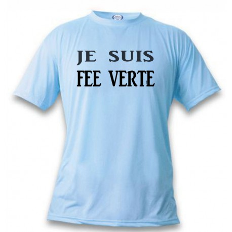 Lustig T-Shirt - Je suis FEE VERTE, Blizzard Blue