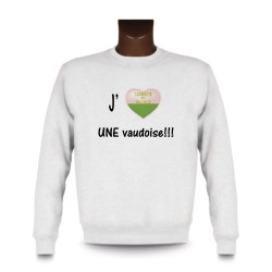 Sweat mode homme - J'aime UNE Vaudoise, White