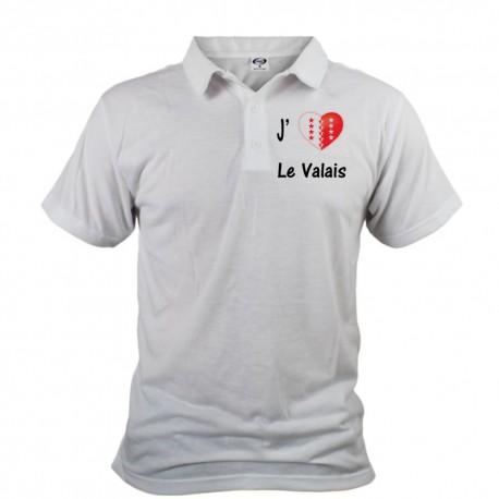 Uomo Polo Shirt - J'aime le Valais
