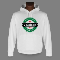 Hooded Funny Sweat - Valaisan, Best Man of the World