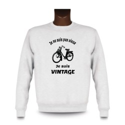Men's Sweatshirt - Vintage Solex, White