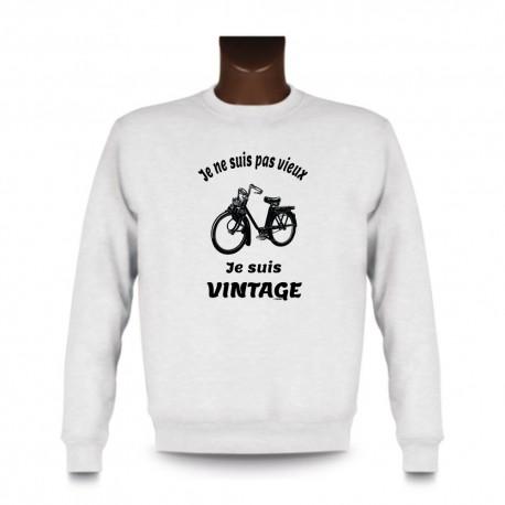 Uomo Funny Sweatshirt - Vintage Solex, White