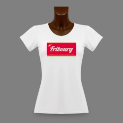 Donna T-shirt stretto - Fribourg, Excellence Suisse depuis 1481