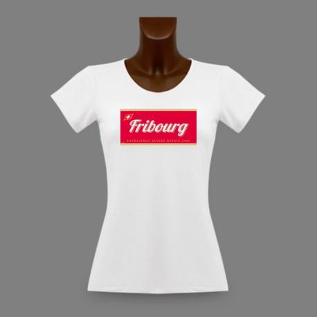 Donna T-shirt stretto - Fribourg, Excellence Suisse depuis 1481