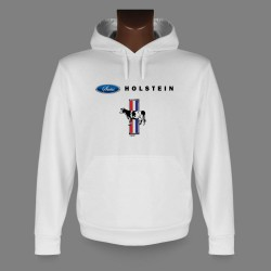 Hooded Funny Sweat - Swiss Holstein