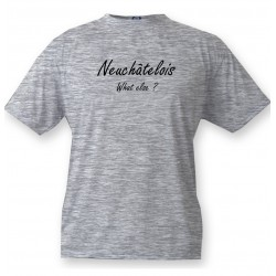 T-Shirt humoristique mode homme - Neuchâtelois, What else ?, Ash Heater