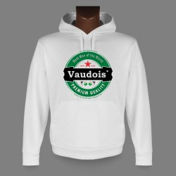 Hooded Funny Sweat - Vaudois, Best Man of the World
