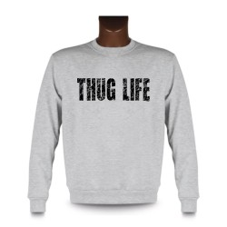 Uomo fashion Sweatshirt - THUG LIFE