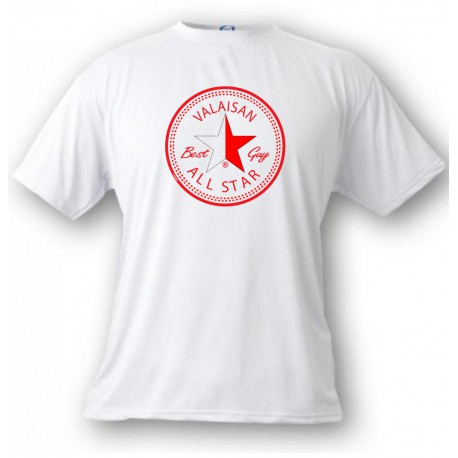Herren Mode T-Shirt - Valaisan, ALL STAR Best Guy, White